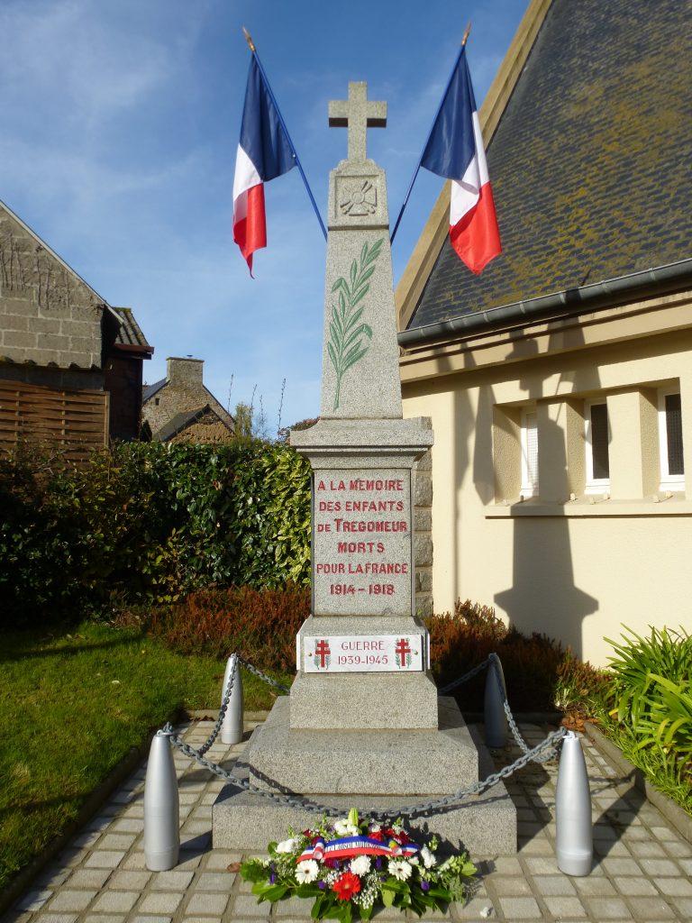 le monument aux morts de Trégomeur